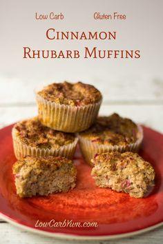 Cinnamon Rhubarb Muffins - Gluten Free | Low Carb Yum