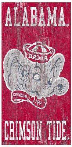 NCAA Alabama Crimson Tide Heritage Logo Wall Sign