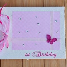 1st Birthday Guest Book by Orchard Bliss