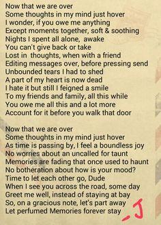 A break up poem