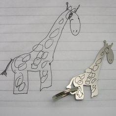 Ihr Kind ist am Schlüsselbund zeichnen. von formiadesign auf Etsy