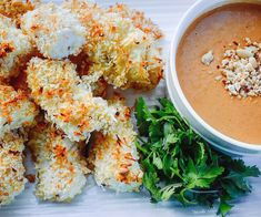 Coconut Crusted Cod Nuggets with Spicy Peanut Dipping Sauce