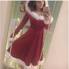 For Christmas Christmas Dress Women, Christmas Clothes, Short Models, Hooded Dress, Sleepwear Women, Winter Dresses, Cheap Dresses, Sexy Outfits, Pajama Set