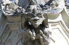 gremlins gargouille à la chapelle de Bethléem en Loire Atlantique #french #bretagne
