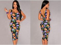 New Europe Women Dress Floral Print Square Neck Sleeveless Party Club Evening Cocktail Dress Black/Beige one size black Online Shopping Black Cocktail Dress, Clothing Co, Flower Dresses, Pretty Outfits, Dress To Impress, Beautiful Dresses, Floral Prints, Two Piece Skirt Set, Bodycon Dress