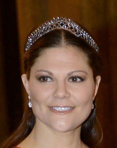 Crown Princess Victoria at dinner for the Nobel Laureates at the Royal Palace in Stockholm.