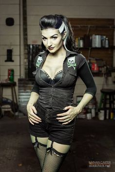 Image about pinup in rockabilly & psychobilly 💖 by Laura Adriana Rockabilly Moda, Rockabilly Pin Up, Rockabilly Fashion, Gothic Fashion, Look Fashion, Vintage Fashion, Fashion Clothes, Stylish Clothes, Fashion Black