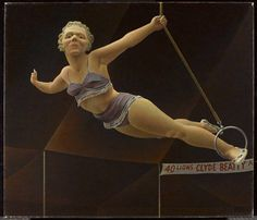 Alex Colville, Circus Woman (1959-1960) (Gift of Dr. Helen J. Dow/©A.C. Fine Art Inc.)