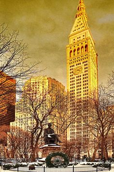 Ten Past Four At Madison Square Park Photograph  - Ten Past Four At Madison Square Park Fine Art Print