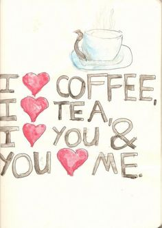 We love you, coffee, and tea as well! #Coffee #Tea #MrCoffee