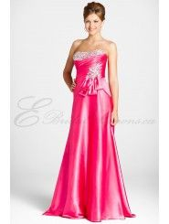 Charmeuse Softly Curved Neckline Floor-length Prom Dress