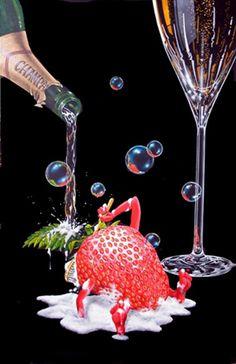 Bubbly Bath - Michael Godard