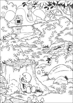 Smurfs Coloring Pages For Kids 11
