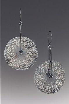 Axle Earrings: Kendra Renee: Silver Earrings   Artful Home