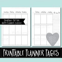 Happy Planner PRINTABLE Monthly Planner Refills / Inserts - PDF 7 x 9.25 Happy Planner | Create 365 | Me & My Big Ideas | mambi | Undated by AdorablyOrganized on Etsy