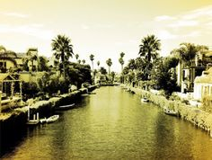 Boats on the Venice canals.