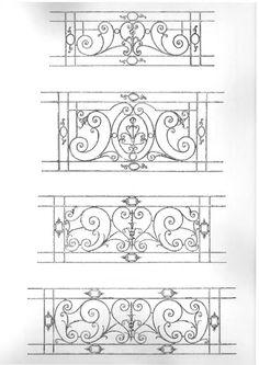 Iron Handrails, Iron Stair Railing, Wrought Iron Decor, Wrought Iron Gates, Iron Windows, Iron Doors, Metal Drawing, Metal Art, Balcon Juliette