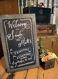 We love chalkboard signs for your wedding. Whether for a welcome sign or ceremony sign there are many opportunities to incorporate this into your wedding