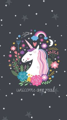Unicorns are real - unicorn illustration cute. Real Unicorn, Black Unicorn, Unicorn Face, Cute Unicorn, Rainbow Unicorn, Rainbow Galaxy, Magical Unicorn, Iphone Wallpaper Unicorn, Unicorn Backgrounds