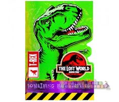 8 Open Package JURASSIC PARK Lost World INVITATIONS ~ Birthday Party Supplies