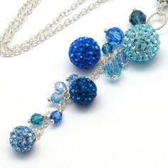 Peacock Blue Necklace Sapphire Aquamarine Montana by martaky, $70.00
