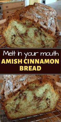 Amish Sweet Bread Recipe, Amish Bread Recipes, Cinnamon Amish Bread, Bread Recipes For Breakfast, Easy Homemade Bread Recipes, Best Amish Recipes, Amish White Bread, Dutch Recipes, Favorite Recipes