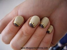 beige fall nails