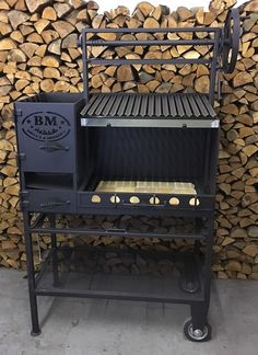 Its a ultimate wood burning grill pit for residential and small catering business use. One of the most beautiful wood burning barbecue grill pits we have ever built, these Argentine barbecue grills feature heavy duty thick mild steel construction, e Barbecue Design, Grill Design, Barbecue Grill, Barbacoa Argentina, Asado Grill, Smoker Cooker, Argentine Grill, Custom Bbq Pits, Bbq Equipment