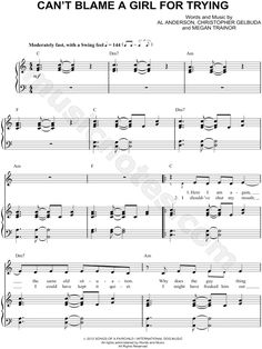 Can't Blame a Girl for Trying sheet music by Sabrina Carpenter