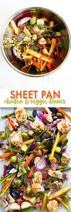 Sheet Pan Supper: Chicken & Veggies from @lexiscleankitch