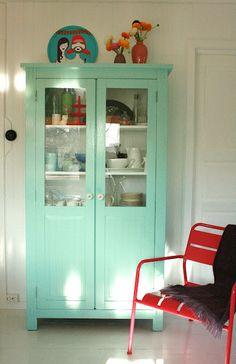 Mint Green Cabinet