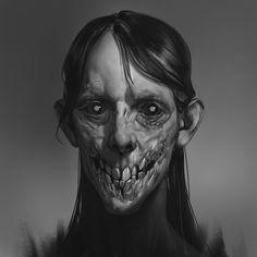 My favorite creepy fantasy art Arte Horror, Horror Art, Creepy Monster, Monster Munch, Art Et Illustration, Illustrations, Creepy Art, Maquillage Halloween, Creature Concept