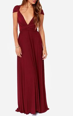 Tricks of the Trade Burgundy Maxi Dress at Lulus.com!