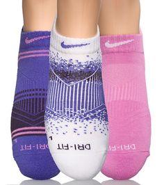 NIKE SPORTSWEAR WOMENS 3 PACK WOMEN'S DRI FIT ANKLE SOCKS Multi-Color