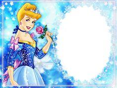 Disney Princess Picture Frame | Disney Princess Cinderella Photo Frame Page | Disney Coloring Pictures ...