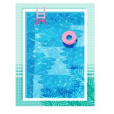 Chillin Summer Pool A1 Framed Print (€135) ❤ liked on Polyvore featuring home, home decor, wall art, backgrounds, white wall art, blue home decor, blue wall art and white home decor