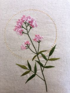 Cushion Embroidery, Hand Embroidery Projects, Floral Embroidery Patterns, Hand Work Embroidery, Embroidery On Clothes, Embroidery Flowers Pattern, Simple Embroidery, Rose Embroidery, Hand Embroidery Stitches