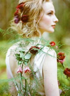 ❀ Flower Maiden Fantasy ❀ women & flowers in art fashion photography - rose maid