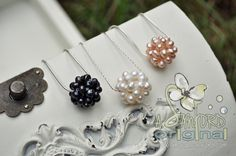 Handmade in Mississippi Cotton Tail, Wild berry, Pink Berry, Pearl Cluster necklaces.