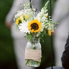 creative yard decorations with sunflowers and items in vintage style
