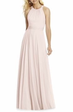 Main Image - After Six Chiffon A-Line Gown