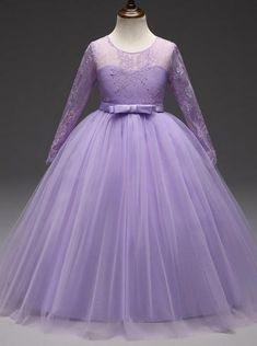 Princess Flower Girl Dress,Formal Girl Dress lace ball gown,First Communion Dress with Flower Girl Dresses Country, Purple Flower Girls, Princess Flower Girl Dresses, Cheap Flower Girl Dresses, Girls Formal Dresses, Dress Formal, Lavender Flower Girl Dress, Dress First, The Dress