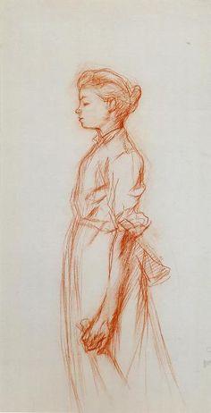 Henri de Toulouse-Lautrec Jeune fille tenant une bouteille
