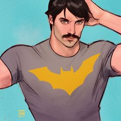 Bruce Wayne by Kevin Wada #dc #dcuniverse Kevin Wada, Growing A Mustache, Eric Roberts, Magnum Pi, Tom Selleck, Cyber Monday Sales, Comics Universe, Gotham City, Comic Artist