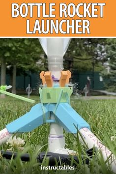 This is a water bottle rocket launcher is built from 3D printed parts and PVC tubes. Great for kids, teachers, and beginner water rocketeers. #Instructables #3Dprint #education #activity #summer Bottle Rocket Launcher, Pvc Tube, Local Library, 3d Printer, Get Started, Middle School, Water Bottle, Printing, Teacher