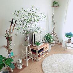 3LDKのIGと同じpic!/ig☞miiiiiii_y/無印/無印良品/シンプルナチュラル…などについてのインテリア実例を紹介。「マリメッコのピックロッキ飾りました ◡̈」(この写真は 2016-11-03 21:15:10 に共有されました) Small Living Rooms, Home Living Room, Indoor Flowers, Interior Decorating, Interior Design, Room Goals, Cozy Room, Cafe Design, Apartment Interior
