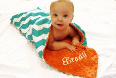 Chevron Blanket Personalized  Blanket, getting this :)