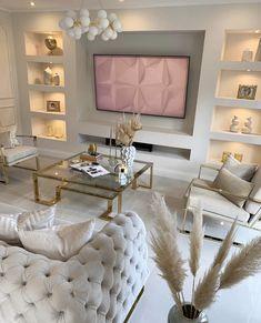 Fancy Living Rooms, Fancy Bedroom, My Living Room, Home And Living, Living Room Decor, Home Room Design, Living Room Designs, Cute Room Decor, Online Furniture Stores