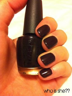 Lincoln Park After Dark by OPI.  My all-time favorite nail polish! :) have it on now !