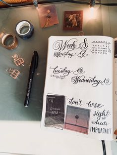 Weekly Spread, Journal Pages, Bullet Journal, Journal Prompts